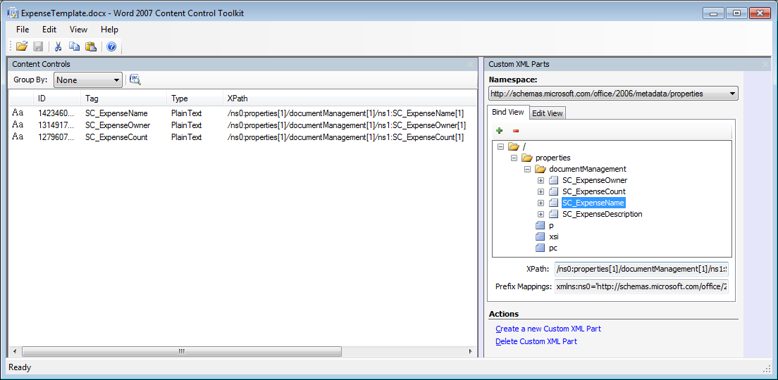 Custom XML mapping of content control in a SharePoint Document ...